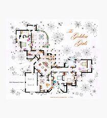 Die Golden Girls Haus Grundriss v.2 Fotodruck