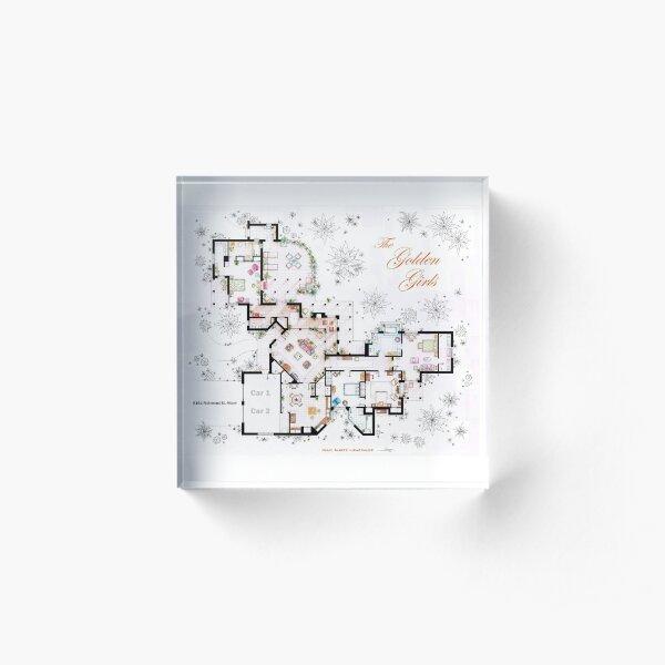 The Golden Girls House floorplan v.2 Acrylic Block