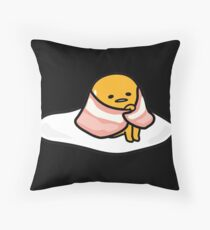 Gudetama - bacon blanket Throw Pillow