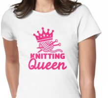 Knitting queen Womens Fitted T-Shirt