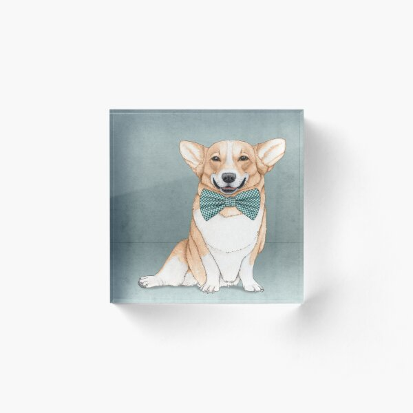 Corgi Dog Acrylic Block