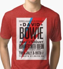 David Bowie Ziggy Stardust Cartel Tri-blend T-Shirt