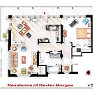Floorplan of the apartment from DEXTER - v.2 by Iñaki Aliste Lizarralde