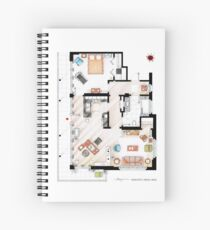 Floorplan of the apartment from DEXTER - v.2 Spiral Notebook