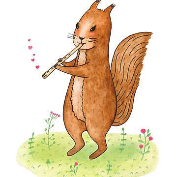 Squirrel with pipe by AllaRi