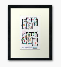 House of Simpson family - Both floors Framed Print