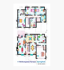 House of Simpson family - Both floors Photographic Print