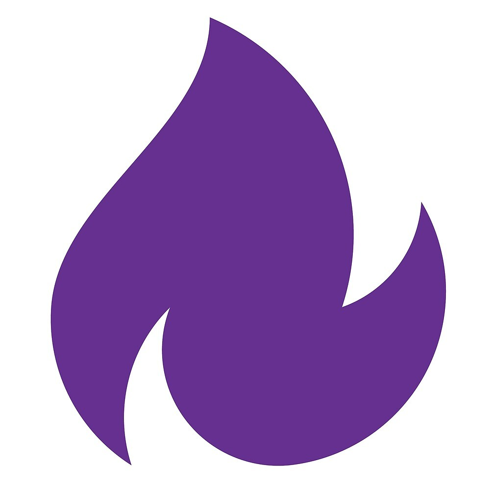 reality blurred purple dancing fire logo by Andy Dehnart