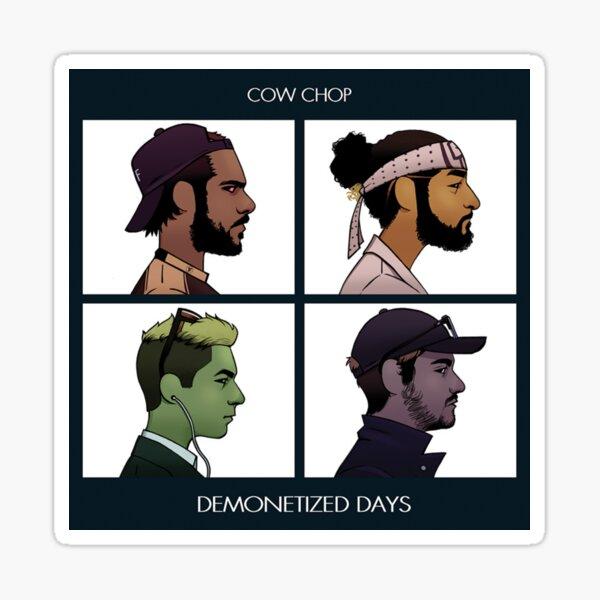 Cow Chop - Demonetized Days Sticker