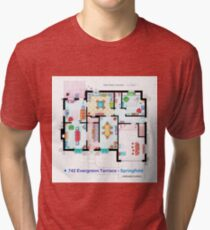 House of Simpson family - Ground Floor Tri-blend T-Shirt