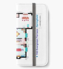 House of Simpson family - Ground Floor iPhone Wallet/Case/Skin