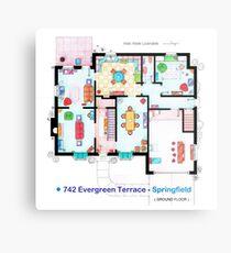 House of Simpson family - Ground Floor Metal Print