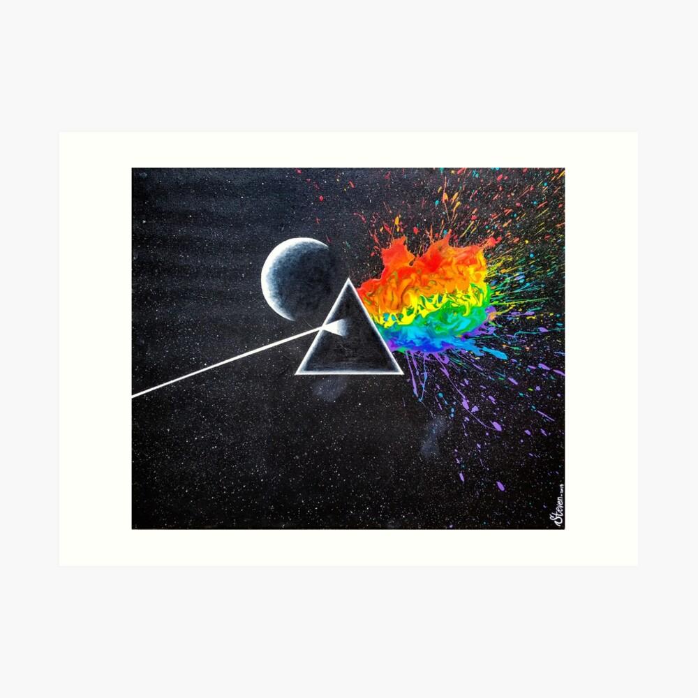 Dark side of the rainbow  Art Print
