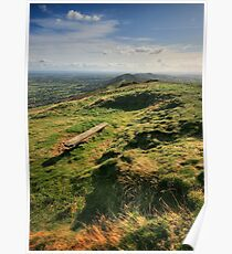Malvern Hills: Looking South Poster