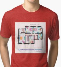 House of Simpson family - First Floor Tri-blend T-Shirt