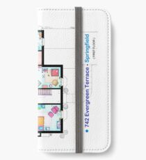 House of Simpson family - First Floor iPhone Wallet/Case/Skin