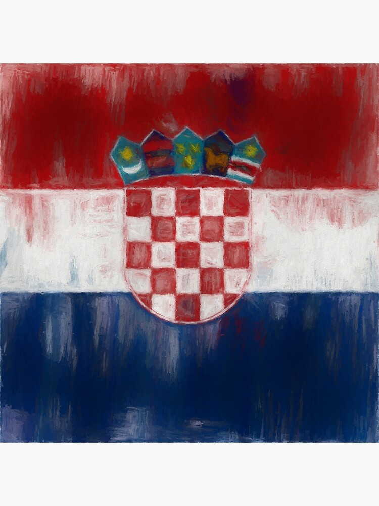 Croatia Flag Reworked No. 1, Series 2 by 8th-and-f