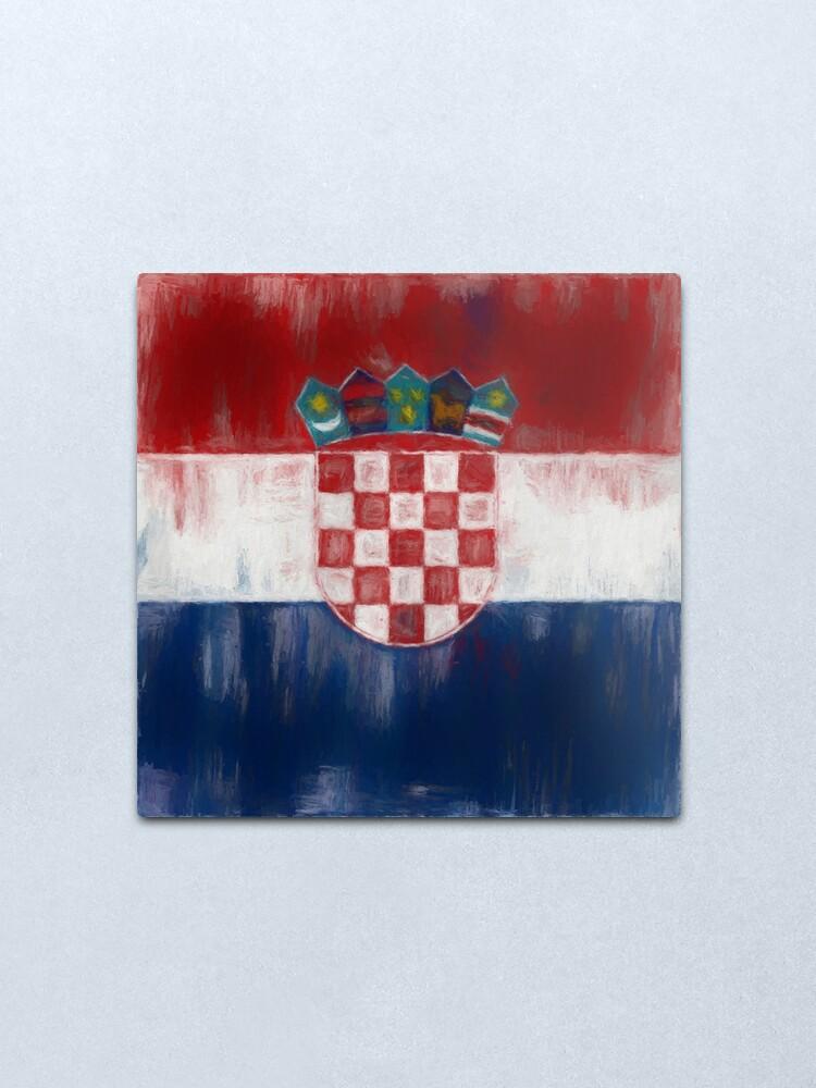 Alternate view of Croatia Flag Reworked No. 1, Series 2 Metal Print