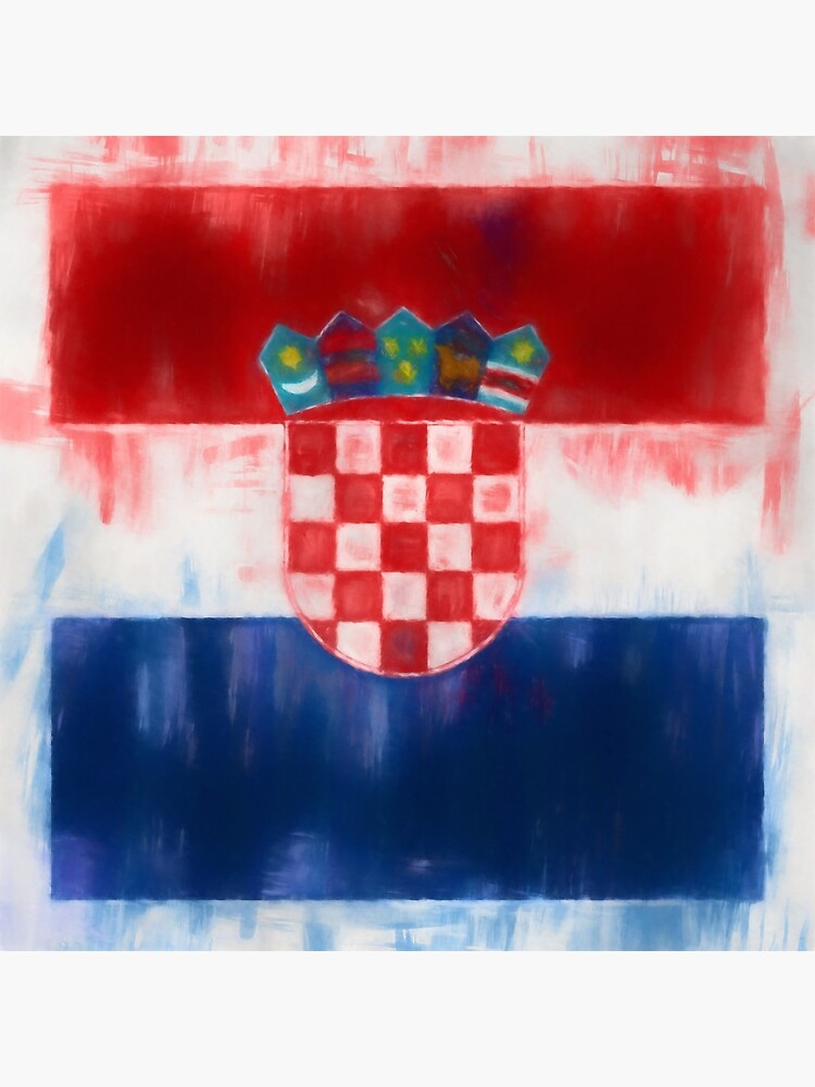 Croatia Flag Reworked No. 2, Series 1 by 8th-and-f
