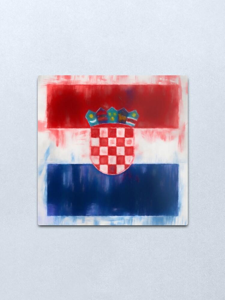 Alternate view of Croatia Flag Reworked No. 2, Series 1 Metal Print