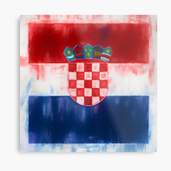 Croatia Flag Reworked No. 2, Series 1 Metal Print
