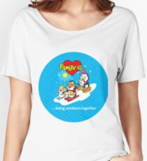 Family of penguins. Family is... Women's Relaxed Fit T-Shirt