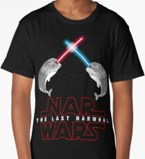 Nar Wars Narwhal Saber Light Star Wars Fans Parody Long T-Shirt