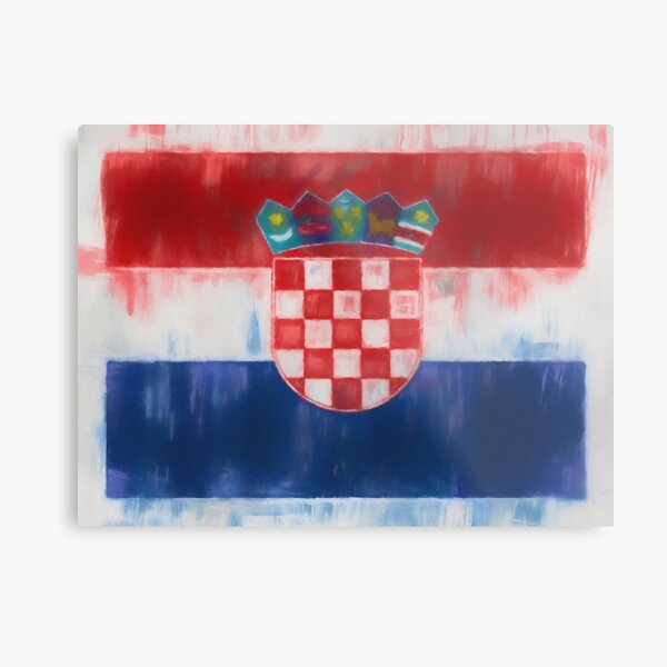 Croatia Flag Reworked No. 66, Series 1 Metal Print