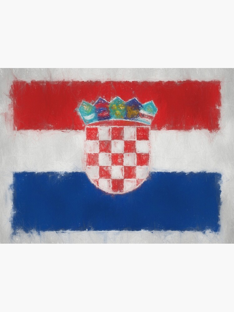 Croatia Flag Reworked No. 66, Series 3 by 8th-and-f