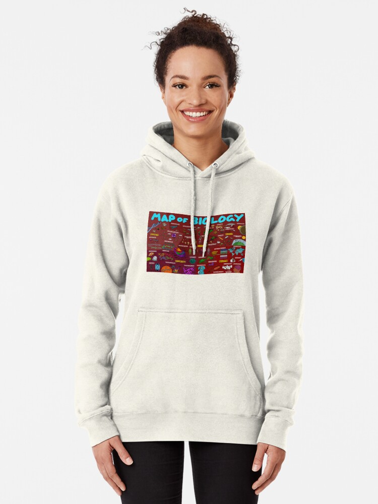 Alternate view of Map of Biology Pullover Hoodie