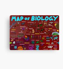 Map of Biology Canvas Print
