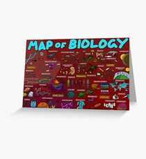 Map of Biology Greeting Card
