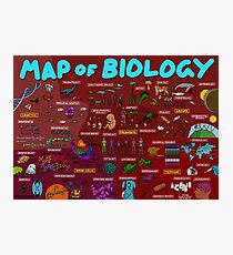 Map of Biology Photographic Print