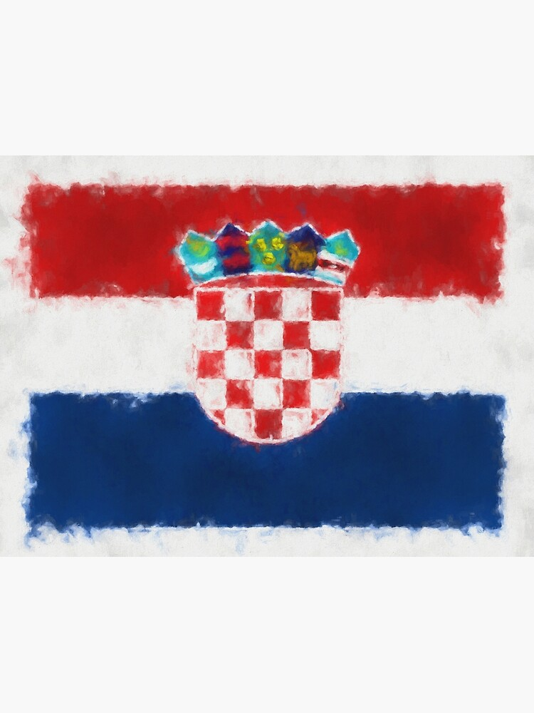 Croatia Flag Reworked No. 66, Series 5 by 8th-and-f
