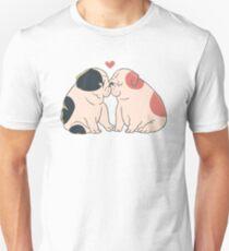 English Bulldog Kisses Unisex T-Shirt
