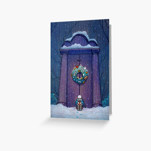 Undertale Christmas Door Greeting Card