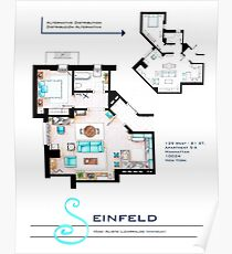 Seinfeld Apartment Poster