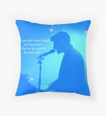 NEver Be Alone blue Throw Pillow