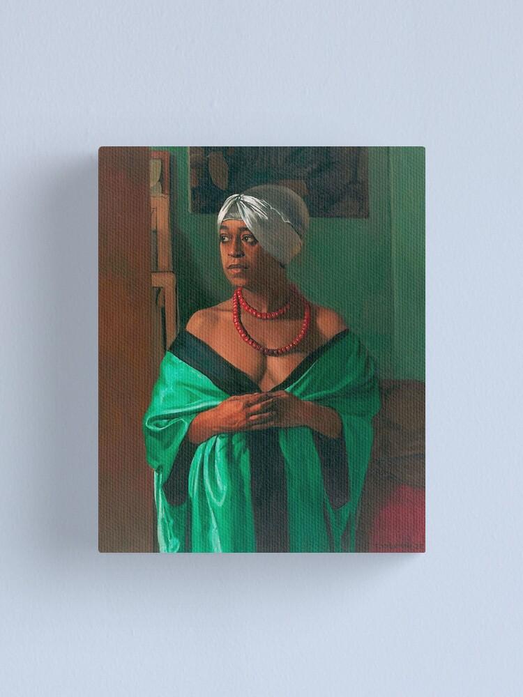 Alternate view of Vintage Felix Vallotton Portrait of Aicha Goblet 1922 Fine Art Canvas Print