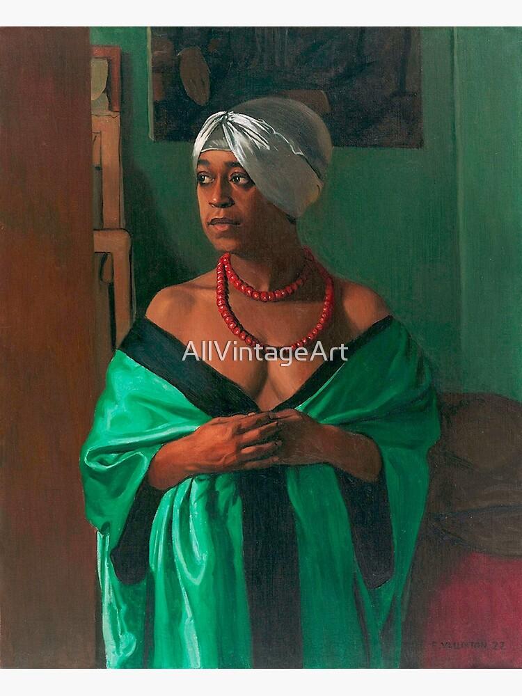 Vintage Felix Vallotton Portrait of Aicha Goblet 1922 Fine Art by AllVintageArt