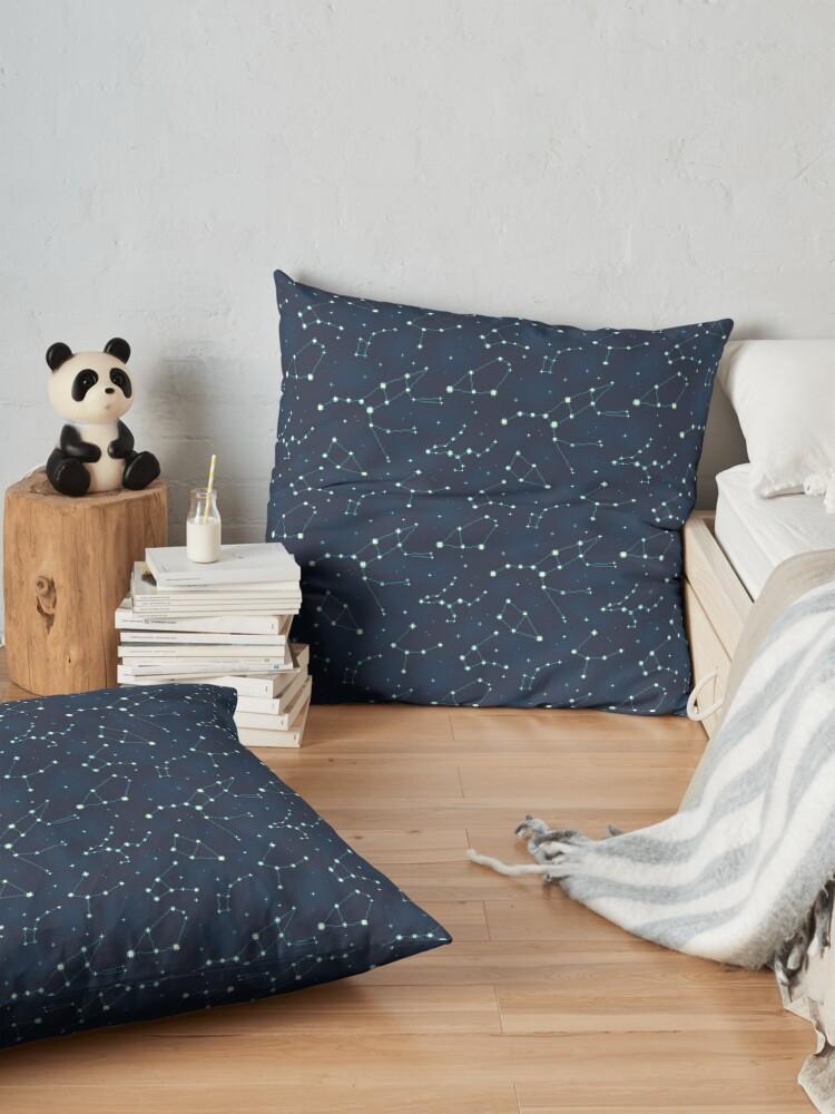 Alternate view of Constellation Pattern (A) Floor Pillow