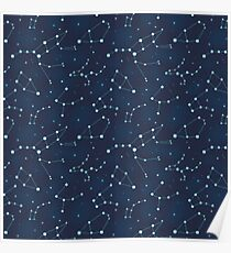 Constellation Pattern (A) Poster