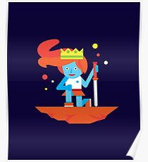 Warrior Princess with Sword | Cute Geek Shirts for Nerds Poster
