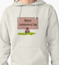 Happy Groundhog Day 2018 Pullover Hoodie