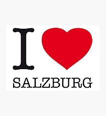 I ♥ SALZBURG Photographic Print