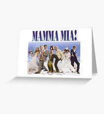 Mamma Mia Cast Poster Greeting Card