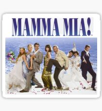 Mamma Mia Cast Poster Sticker