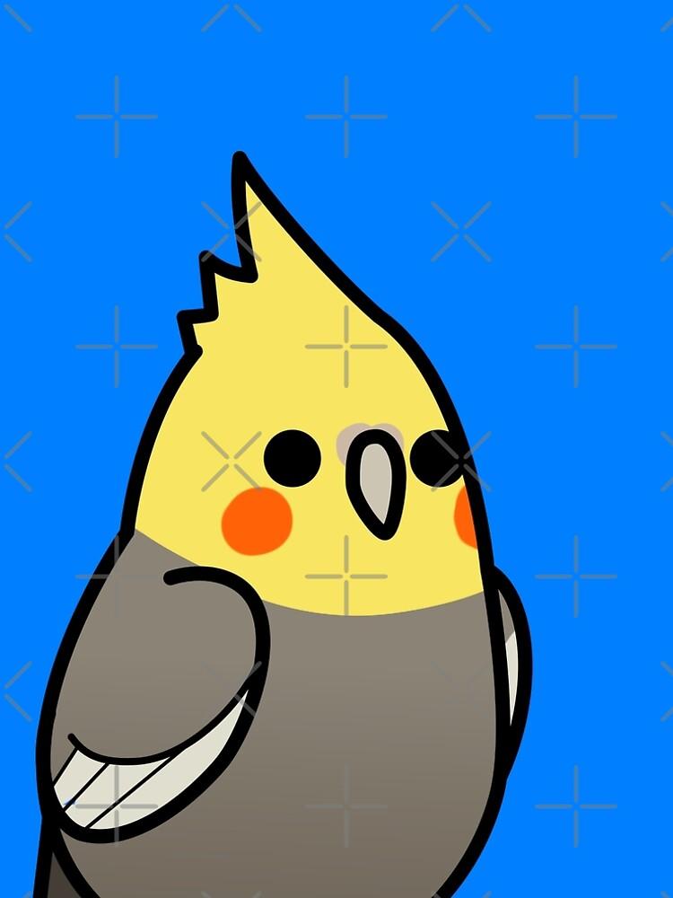 Zu viele Vögel! - Gelber Nymphensittich von MaddeMichael