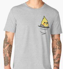 Too Many Birds! - Yellow Cockatiel Men's Premium T-Shirt