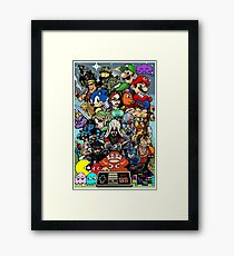 Video Game History Framed Print